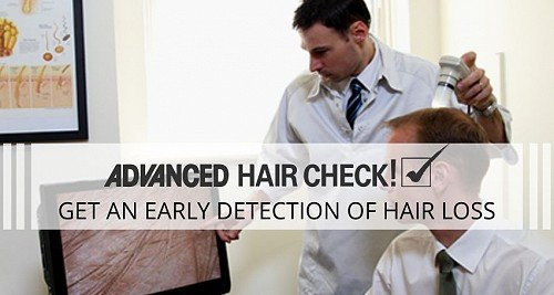 Hair transplant on early hair fall detection
